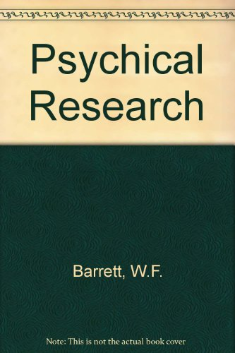 9781852283834: Psychical Research