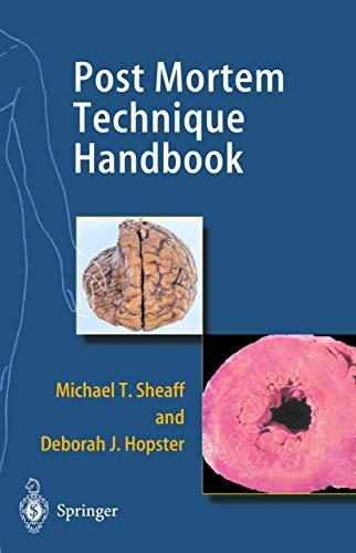 9781852331320: Post Mortem Technique Handbook