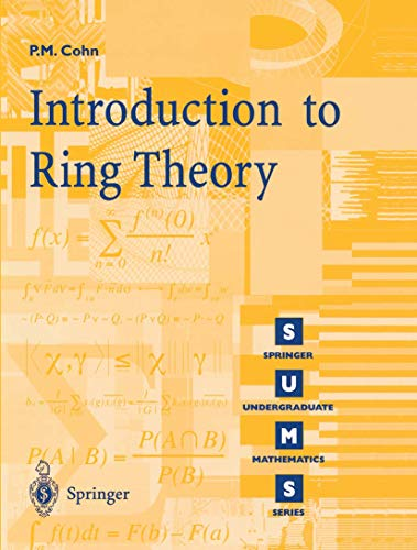 9781852332068: Introduction to Ring Theory (Springer Undergraduate Mathematics Series)