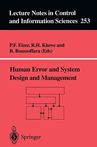 Human Error and System Design and Management