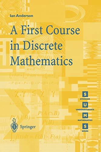 9781852332365: A First Course in Discrete Mathematics (Springer Undergraduate Mathematics Series)