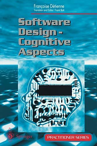 9781852332532: Software Design: Cognitive Aspects