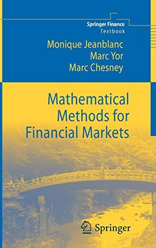 9781852333768: Mathematical Methods for Financial Markets (Springer Finance)