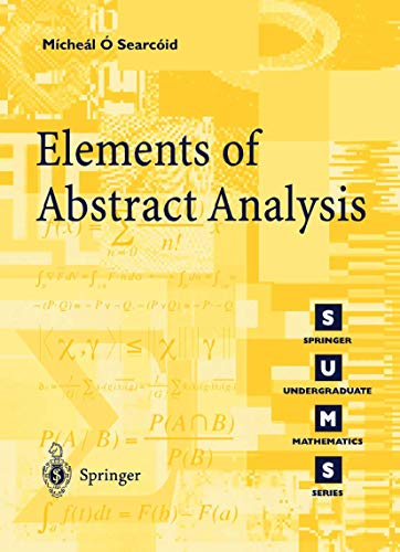 9781852334246: Elements of Abstract Analysis