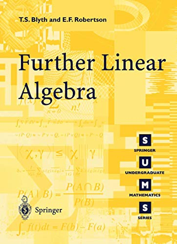 9781852334253: Further Linear Algebra (Springer Undergraduate Mathematics Series)
