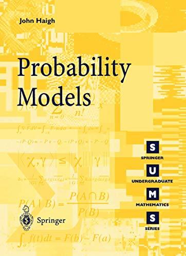 9781852334314: Probability Models (Springer Undergraduate Mathematics Series)