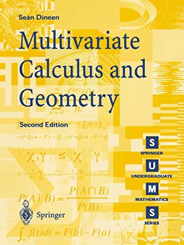 9781852334727: Multivariate Calculus and Geometry (Springer Undergraduate Mathematics Series)
