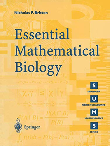 9781852335366: Essential Mathematical Biology
