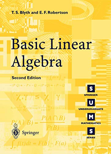 9781852336622: Basic Linear Algebra (Springer Undergraduate Mathematics Series)