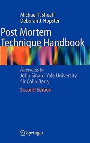 9781852338138: Post Mortem Technique Handbook