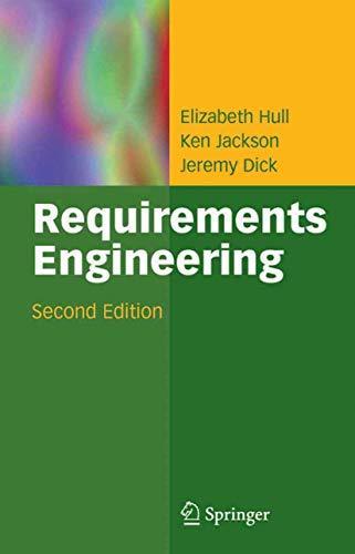 9781852338794: Requirements Engineering