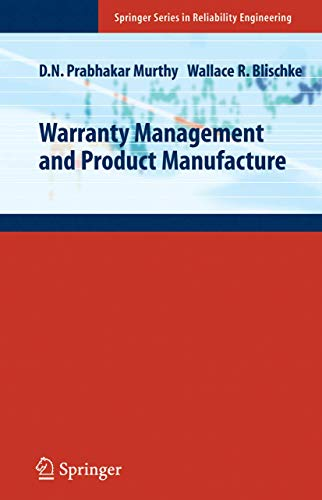 9781852339333: Warranty Management and Product Manufacture (Springer Series in Reliability Engineering)