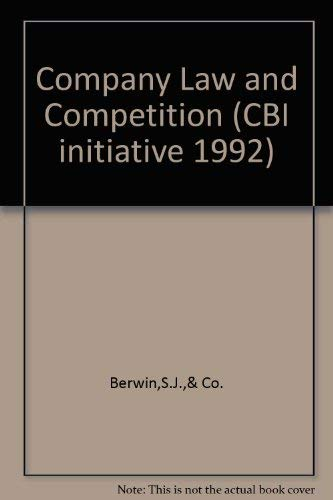 9781852510275: Company Law and Competition (CBI initiative 1992)