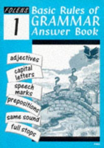 Basic Rules of English Grammar: Answer Book: Millar, Alison