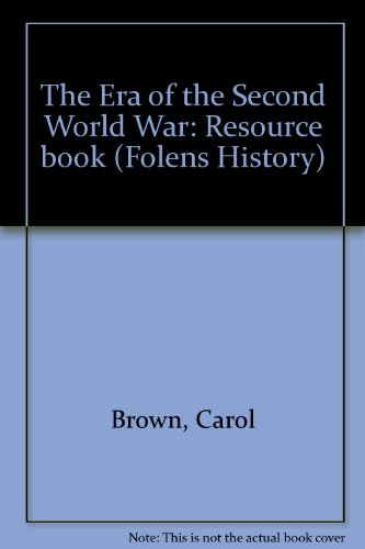 9781852763329: The Era of the Second World War: Resource book (Folens History)