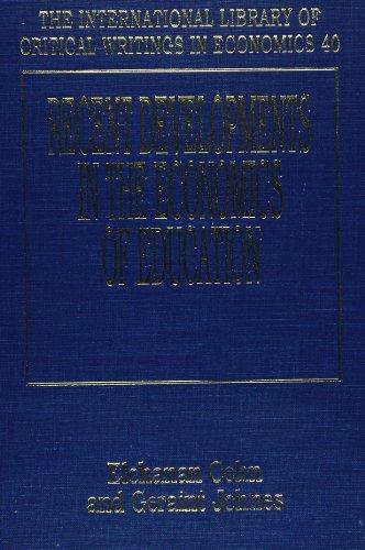 Recent Developments in the Economics of Education (Hardback)