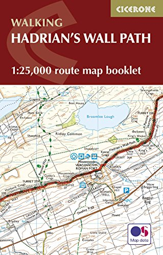 9781852848934: Hadrian's Wall Path Map Booklet: 1:25,000 OS Route Mapping
