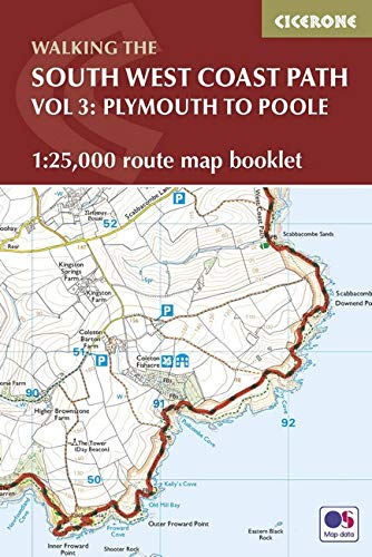 South West Coast Path Map Booklet - Plymouth to Poole: 1:25,000 OS Route Mapping: Paddy Dillon