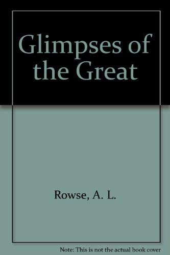 9781852900014: Glimpses of the Great