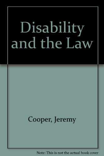 9781853023187: Disability and the Law
