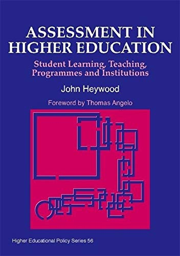 9781853028311: Assessment in Higher Education: Student Learning, Teaching, Programmes and Institutions (Higher Education Policy)