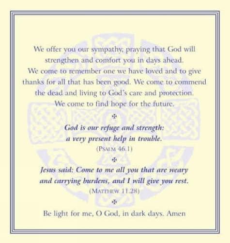 9781853116612: Funeral Prayer Cards