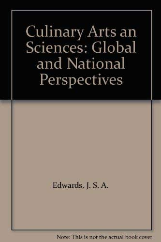 9781853123993: Culinary Arts an Sciences: Global and National Perspectives