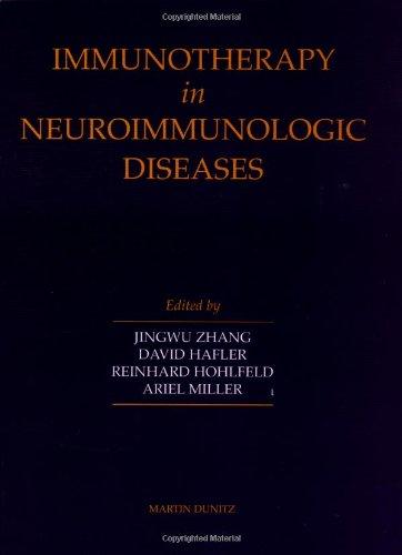 9781853174742: Immunotherapy in Neuroimmunologic Diseases