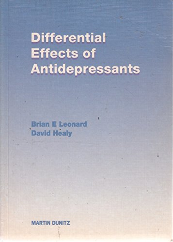 9781853176999: Differential Effects of Antidepressants