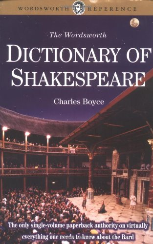 9781853263729: Dictionary of Shakespeare (Wordsworth Collection)