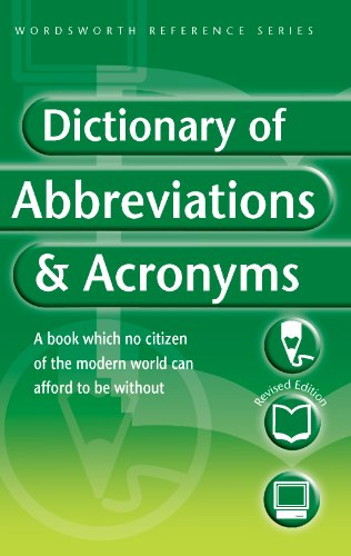 9781853263859: Dictionary of Abbreviations & Acronyms (Wordsworth Reference) (Wordsworth Collection)