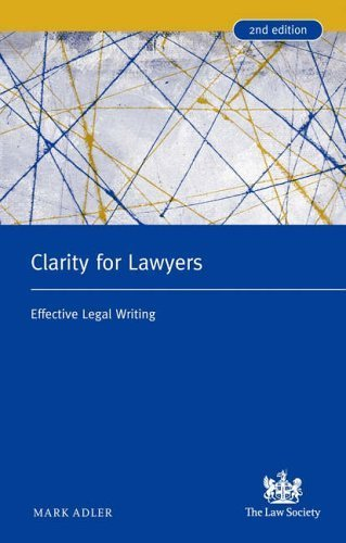 9781853280870: Clarity for Lawyers