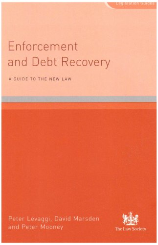 9781853286537: Enforcement and Debt Recovery: A Guide to the New Law