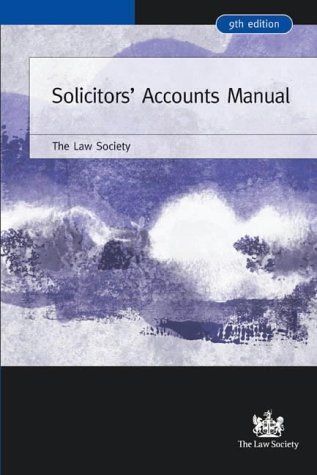 9781853289071: Solicitors' Accounts Manual (Law Society)