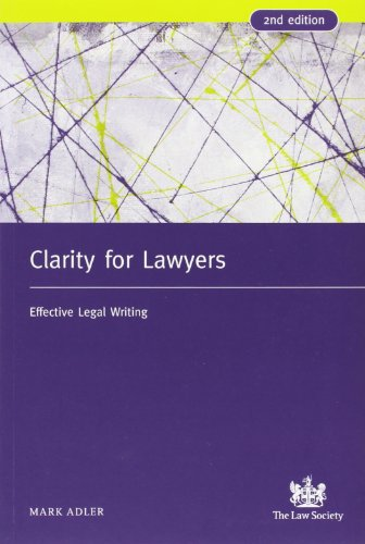 9781853289859: Clarity for Lawyers: Effective Legal Writing