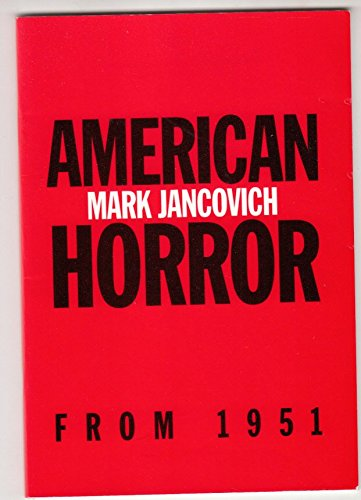 9781853311499: American Horror from 1951 to the Present (British Association for American Studies (BAAS) Pamphlets)