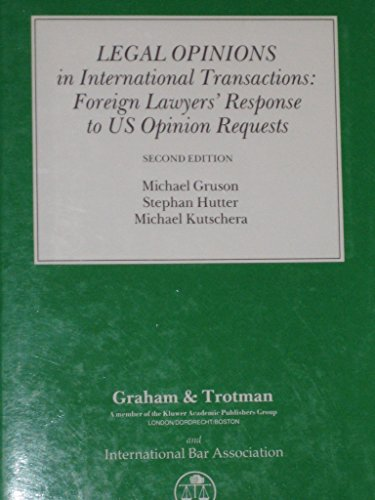 9781853331923: Legal Opinions in International Transactions