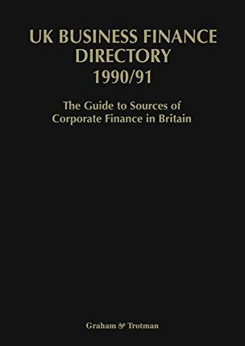 9781853333620: The U.K. Business Finance Directory 1990