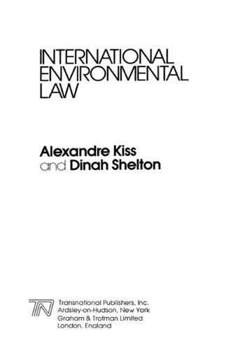 9781853336270: International Environmental Law