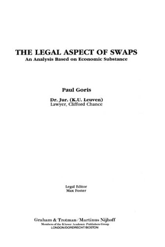 9781853339103: The Legal Aspect of Swaps