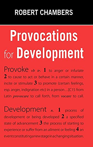 9781853397240: Provocations for Development