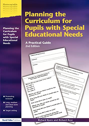 9781853467790: Planning the Curriculum for Pupils with Special Educational Needs: A Practical Guide (Resource Materials for Teachers)