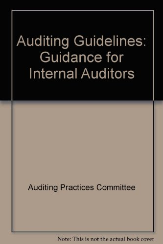 9781853551192: Auditing Guidelines: Guidance for Internal Auditors