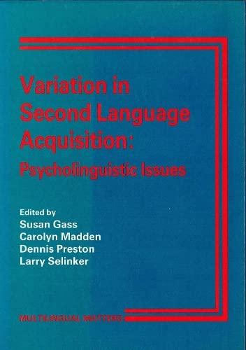 9781853590276: Variation In Sec Lang Acqu V2 (Multilingual Matters)