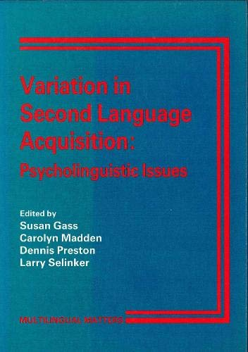9781853590283: Variation in Second Language Acquisition: Psycholinguistic Issues (Mulilingual Matters, 50)