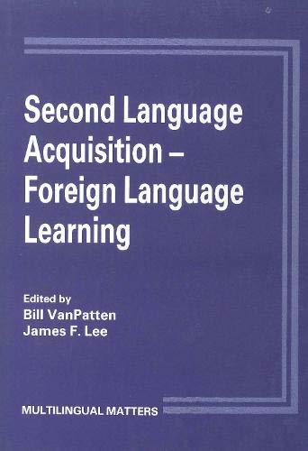 9781853590535: Second Language Acquisition/Foreign Language Learning (Multilingual Matters)