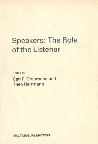 9781853590597: Speakers: The Role of the Listener (None)
