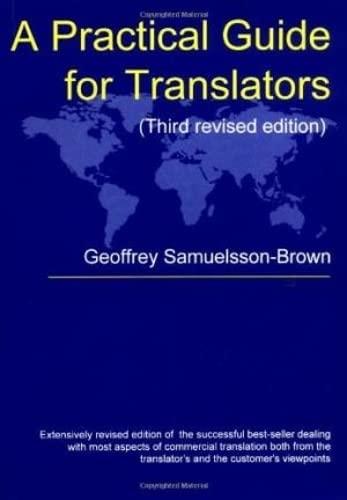 9781853594298: A Practical Guide For Translators (Topics in Translation)