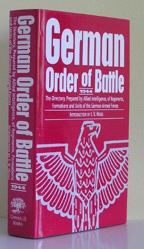 GERMAN ORDER OF BATTLE, 1944: Hogg, I.V., Introduction By