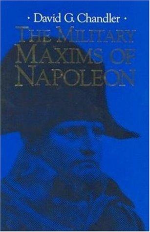 9781853675126: The Military Maxims of Napoleon